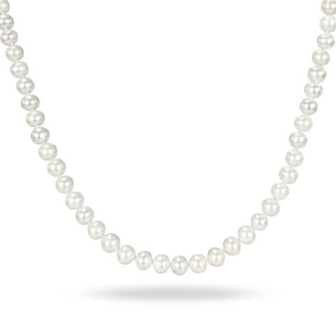 Stainless Steel 6-7 MM Freshwater Cultured Pearl Strand