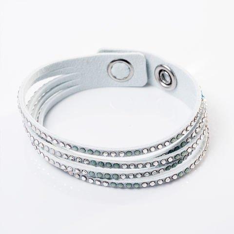 Simple Twist bracelet in white