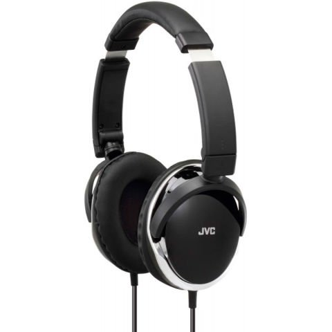 Black JVC foldable headphones