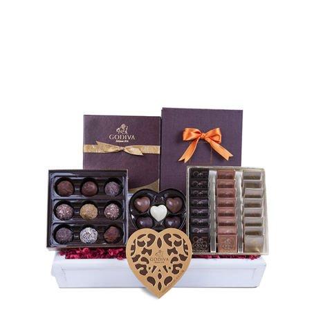 """""""Choice"""" basket of selected Godiva chocolates"""