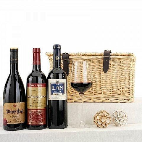 Cesta para amantes del vino
