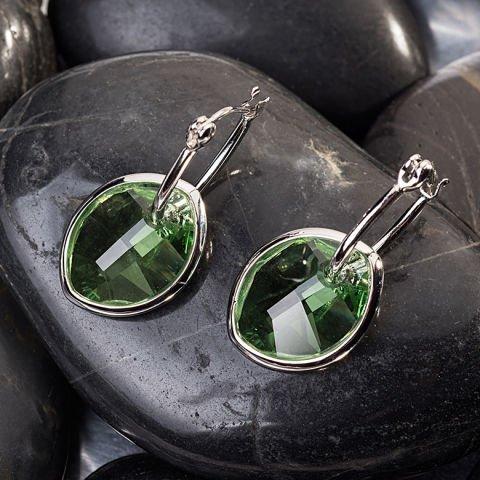 Pendientes con cristales Swarovski verdes