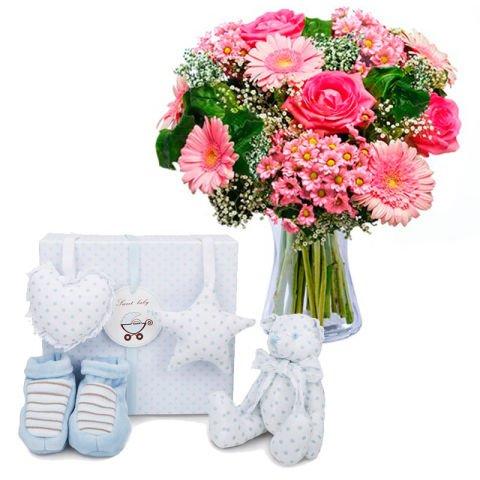 Flores y diversión para niño