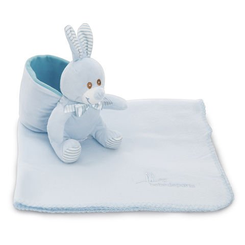 Bunny and Blanket Blue