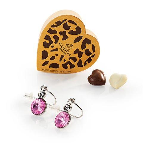'Romance' : chocolats Godiva et boucles d'oreilles