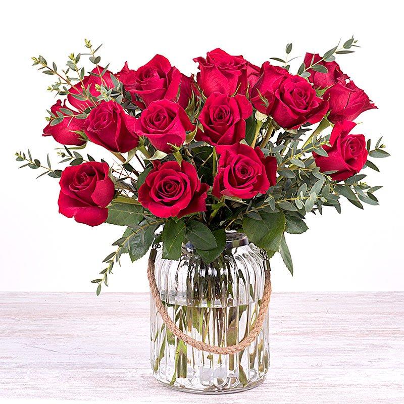 Amor del bueno - 20 rosas rojas